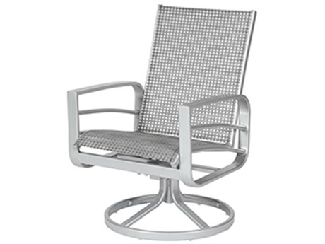 Windward Design Group Skyway Ii Sling Aluminum Dining Swivel Rocker