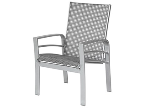 Windward Design Group Skyway Ii Sling Aluminum Dining Arm Chair
