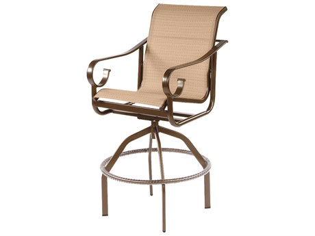 Windward Design Group West Wind Sling Aluminum Swivel Bar Chair