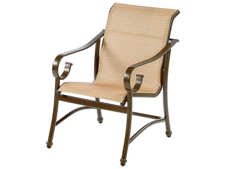 Windward Design Group West Wind Sling Aluminum Dining Arm Chair