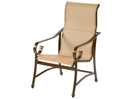 Windward Design Group West Wind Sling Aluminum High Back Dining Arm Chair