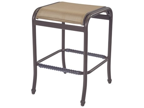 Windward Design Group West Wind Sling Aluminum Backless Bar Stool