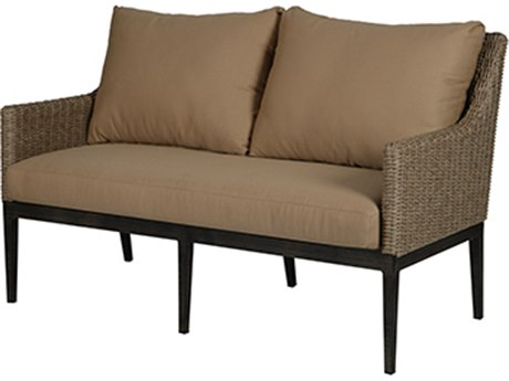 Windward Design Group Loft Wheat Wicker River Rock Frame Loveseat