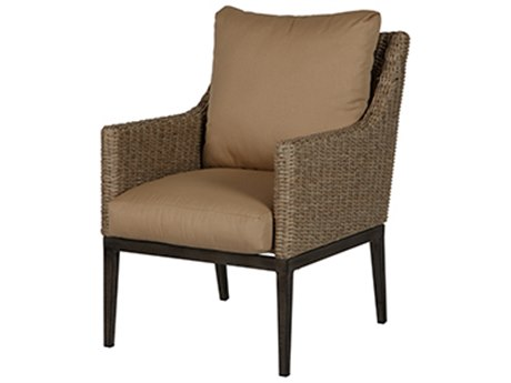 Windward Design Group Loft Wheat Wicker River Rock Frame Lounge Chair