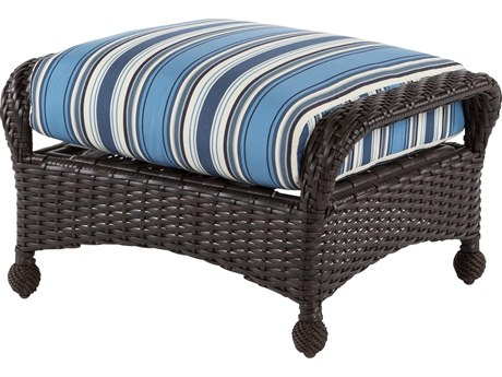 Windward Design Group Carolina Wicker Deep Seating Aluminum Ottoman