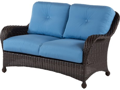 Windward Design Group Carolina Wicker Deep Seating Aluminum Loveseat