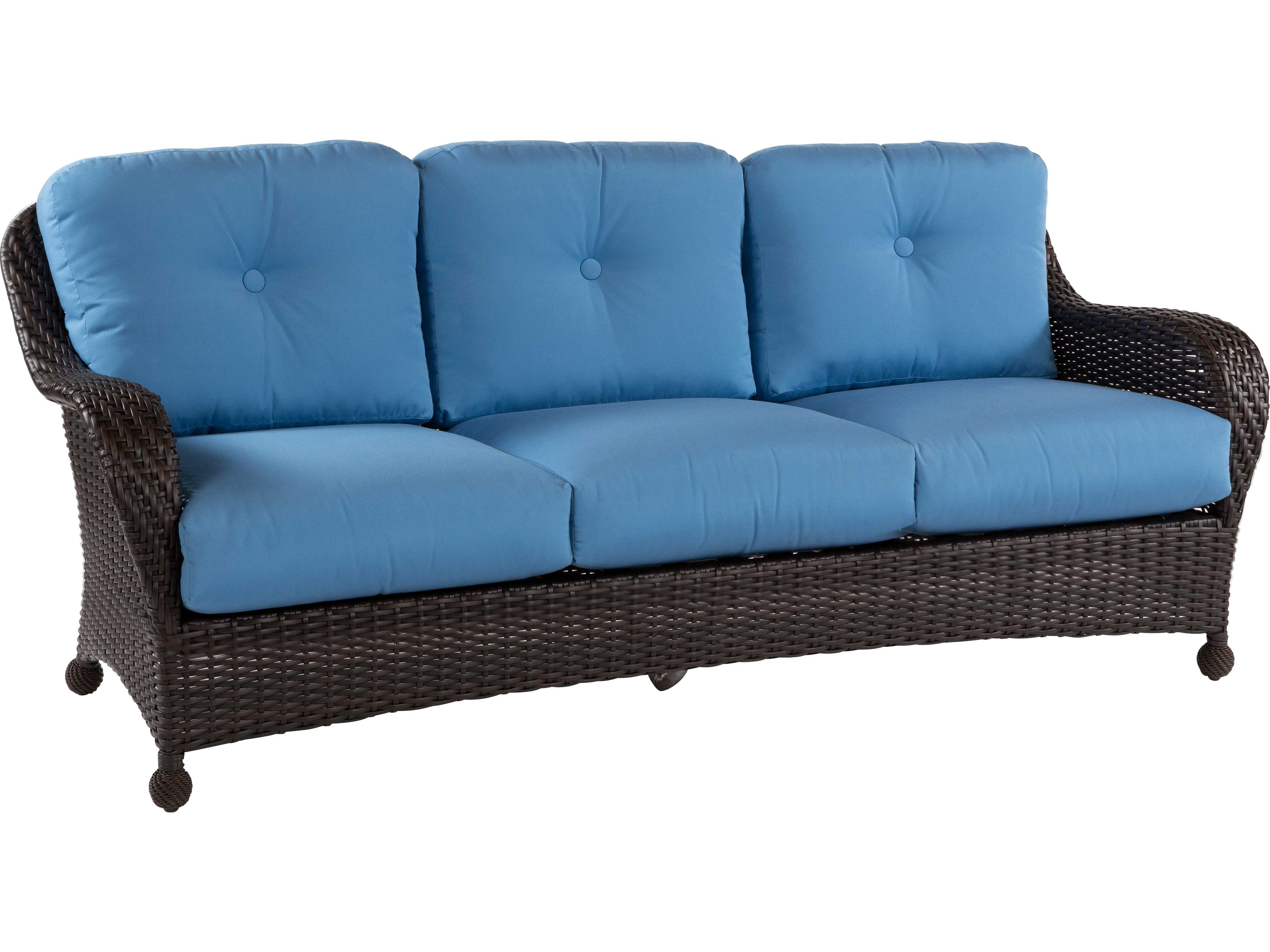 Windward Design Group Carolina Wicker Deep Seating Aluminum Sofa