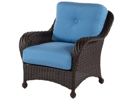 Windward Design Group Carolina Wicker Deep Seating Aluminum Lounge Chair