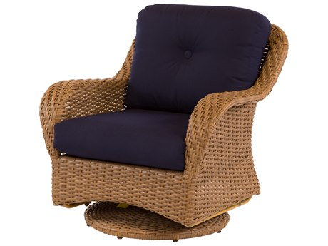 Windward Design Group Carolina Wicker Deep Seating Aluminum Swivel Lounge Chair