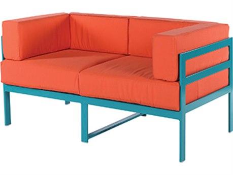 Windward Design Group South Beach Modular Aluminum Cushion Loveseat