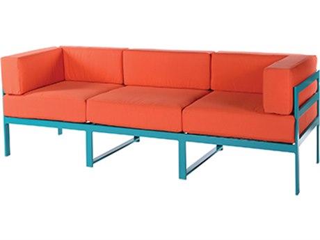 Windward Design Group South Beach Modular Aluminum Cushion Sofa