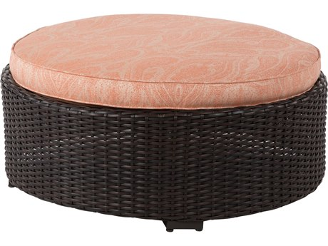 Windward Design Group Dakota Sectional Aluminum Wicker 36 Round Ottoman