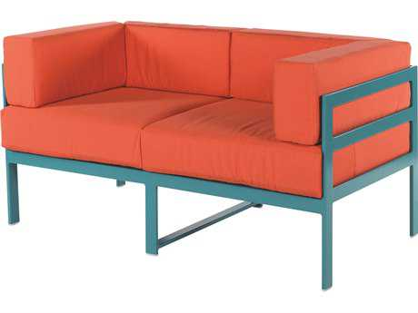 Windward Design Group South Beach Modular Aluminum Cushion Loveseat