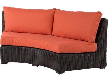Windward Design Group Dakota Sectional Aluminum Wicker Crescent Loveseat