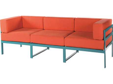 Windward Design Group South Beach Modular Aluminum Cushion Sofa