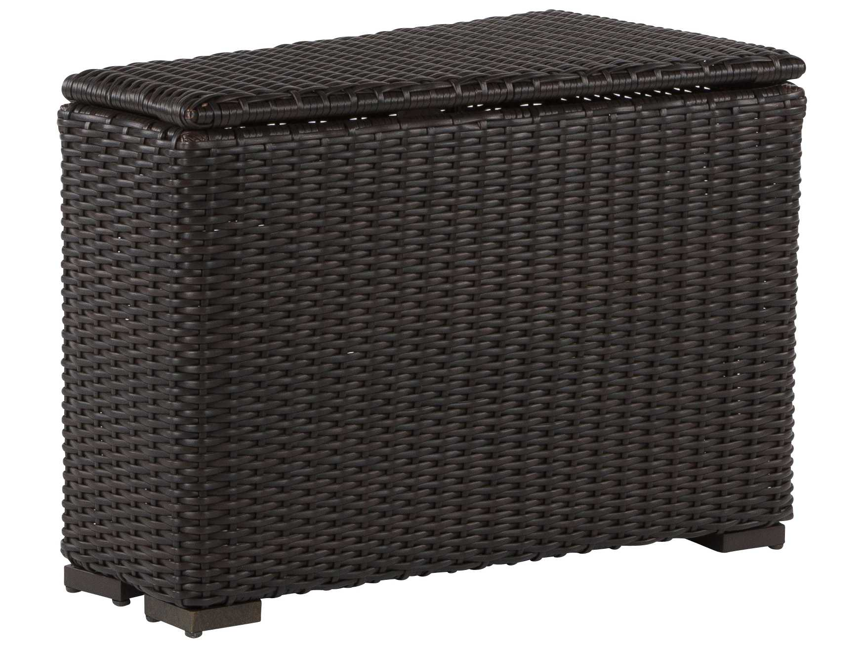Windward Design Group Dakota Sectional Aluminum Wicker Arm Storage