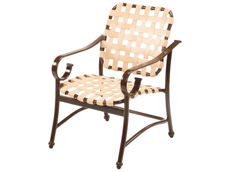 Windward Design Group West Wind Strap Aluminum Dining Arm Chair