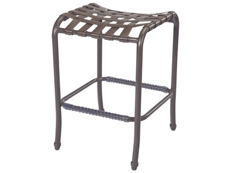 Windward Design Group West Wind Strap Aluminum Backless Bar Stool