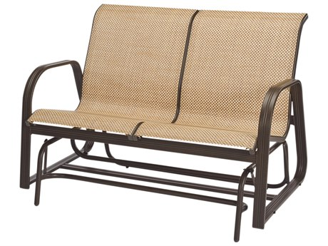 Windward Design Group Cabo Sling Aluminum Loveseat Glider