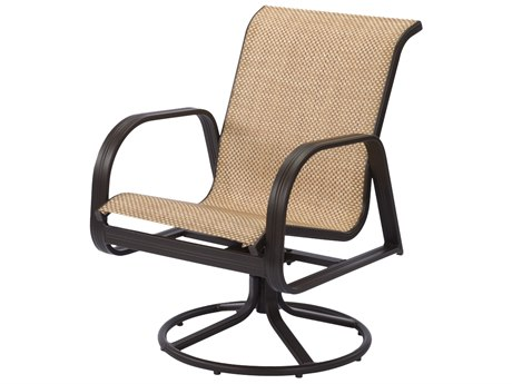 Windward Design Group Cabo Sling Aluminum Dining Swivel Rocker