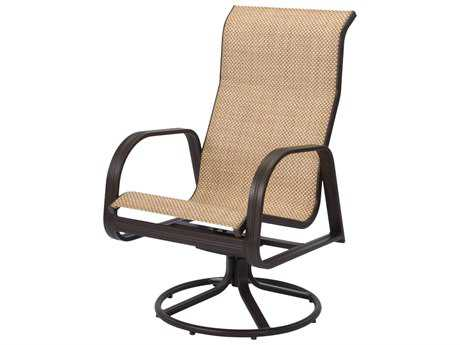 Windward Design Group Cabo Sling Aluminum High Back Swivel Rocker