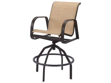 Windward Design Group Cabo Sling Aluminum Swivel Bar Chair
