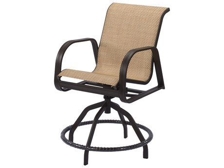 Windward Design Group Cabo Sling Aluminum Swivel Balcony Chair