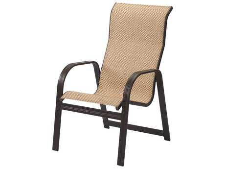 Windward Design Group Cabo Sling Aluminum High Back Dining Chair