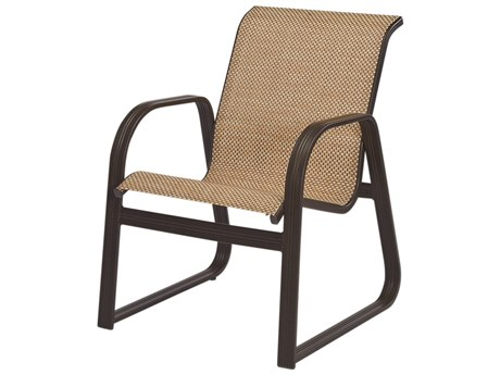 Windward Design Group Cabo Sling Aluminum Sled Bottom Dining Chair