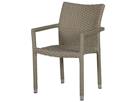 Windward Design Group Martin Stackable Dove Wicker Dining Arm Chair