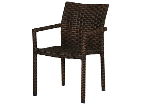 Windward Design Group Martin Stackable Kalua Wicker Dining Arm Chair