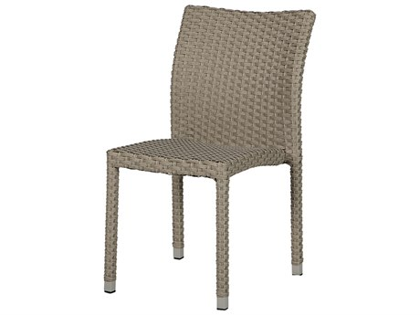 Windward Design Group Martin Stackable Dove Wicker Dining Side Chair