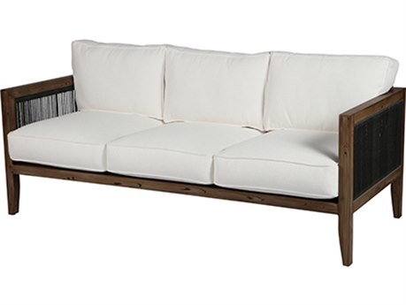 Windward Design Group Belize Deep Seating Caramel Wicker Antique Oak Frame Sofa