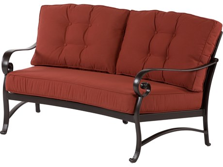 Windward Design Group Versailles Deep Seating Cast Aluminum Crescent Loveseat