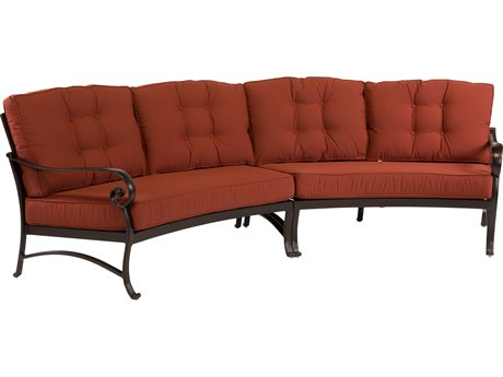 Windward Design Group Versailles Deep Seating Cast Aluminum Crescent Sofa