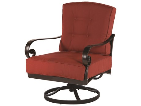 Windward Design Group Versailles Deep Seating Cast Aluminum Lounge Chair Swivel Rocker