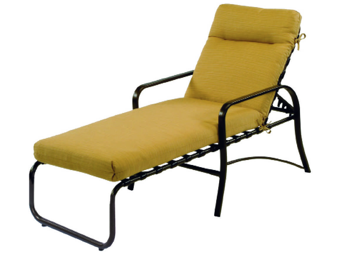 Windward design group island bay cushion aluminum chaise for Chaise lounge construction