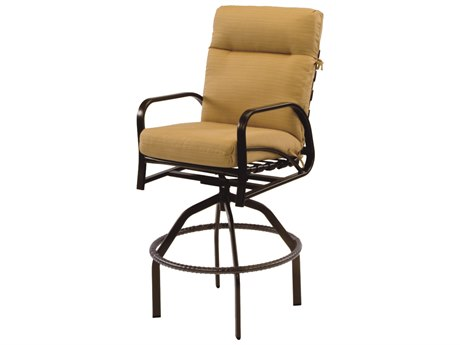 Windward Design Group Island Bay Cushion Aluminum Swivel Bar Chair