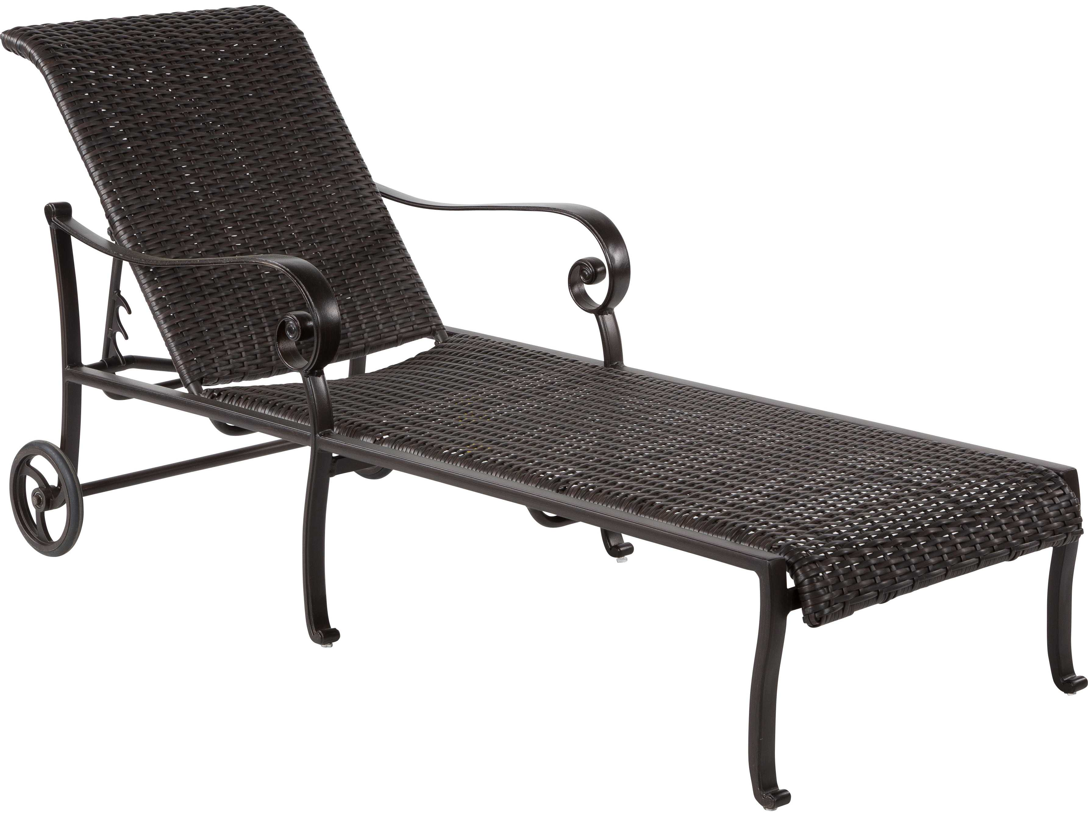 Windward design group versailles dining cast aluminum for Cast aluminum chaise lounge