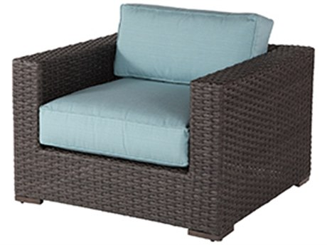 Windward Design Group Georgia Wicker Deep Seating Aluminum Lounge Chair