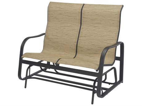 Windward Design Group Sonata Sling Aluminum High Back Loveseat Glider