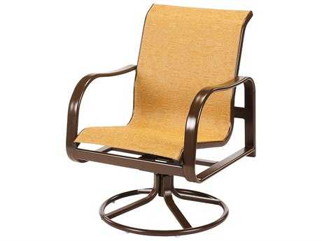 Windward Design Group Sonata Sling Aluminum Dining Swivel Rocker