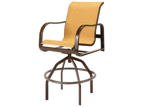 Windward Design Group Sonata Sling Aluminum Swivel Bar Chair