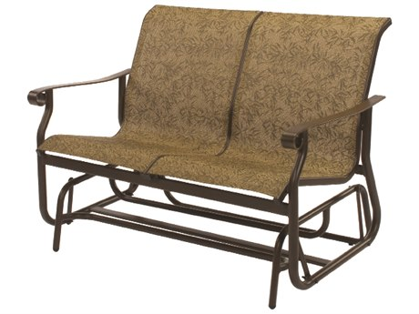 Windward Design Group St. Croix Sling Aluminum Loveseat Glider
