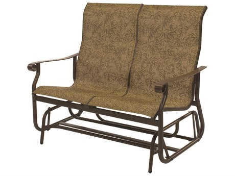 Windward Design Group St. Croix Sling Aluminum High Back Loveseat Glider
