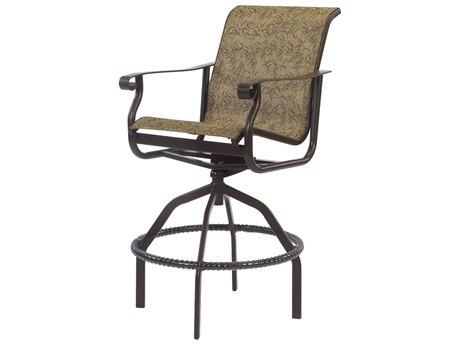 Windward Design Group St. Croix Sling Aluminum Swivel Bar Chair