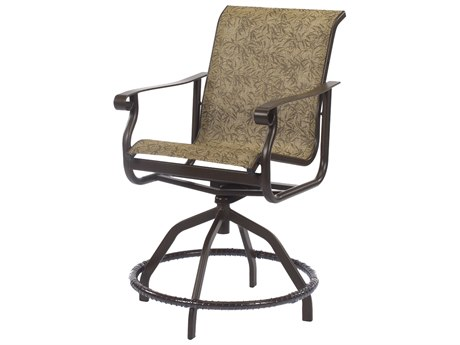 Windward Design Group St. Croix Sling Aluminum Swivel Balcony Chair