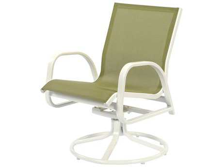 Windward Design Group Seabreeze Sling Aluminum Dining Swivel Rocker