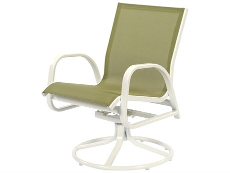 Windward Design Group Seabreeze Sling Aluminum Dining Swivel Rocker WINW5135