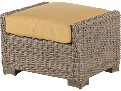 Windward Design Group Oxford Deep Seating Aluminum Wicker Ottoman